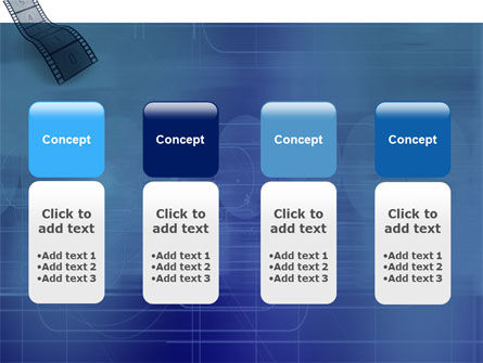 Film Strip In Blue Color PowerPoint Template Slide 5