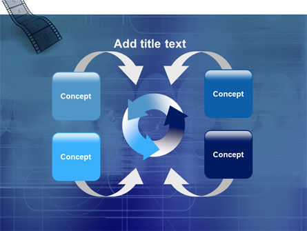 Film Strip In Blue Color PowerPoint Template Slide 6