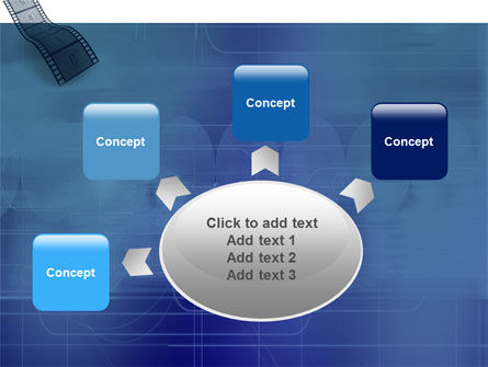 Film Strip In Blue Color PowerPoint Template Slide 7