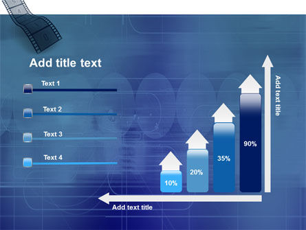 Film Strip In Blue Color PowerPoint Template Slide 8
