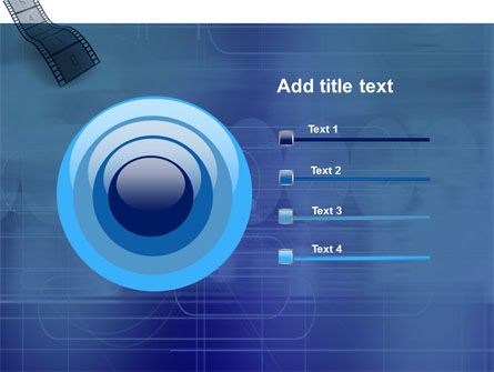 Film Strip In Blue Color PowerPoint Template Slide 9
