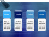 Film Strip In Blue Color PowerPoint Template#5