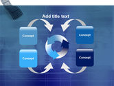 Film Strip In Blue Color PowerPoint Template#6