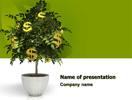 Financial/Accounting: Money Tree In Pot PowerPoint Template #05879