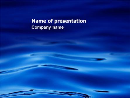 Sea Waves PowerPoint Template, 05881, Nature & Environment — PoweredTemplate.com