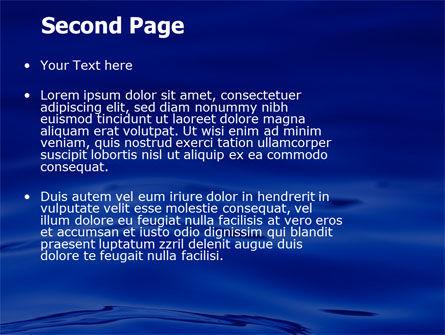 Sea Waves PowerPoint Template, Slide 2, 05881, Nature & Environment — PoweredTemplate.com