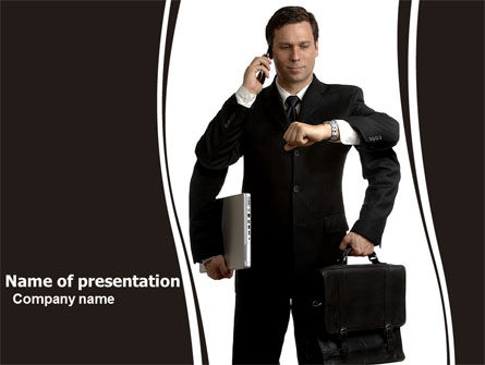 Business: Busy Man PowerPoint Template #05882