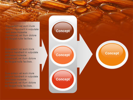 Free Water Drops On A Brown Background PowerPoint Template Slide 11
