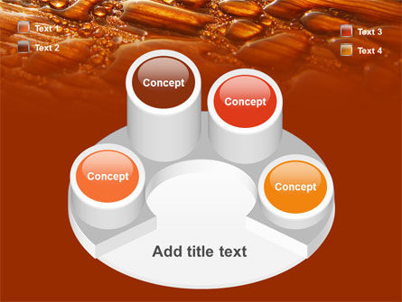 Free Water Drops On A Brown Background PowerPoint Template Slide 12