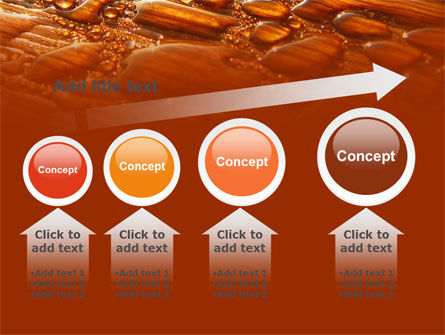 Free Water Drops On A Brown Background PowerPoint Template Slide 13