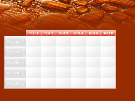 Free Water Drops On A Brown Background PowerPoint Template Slide 15