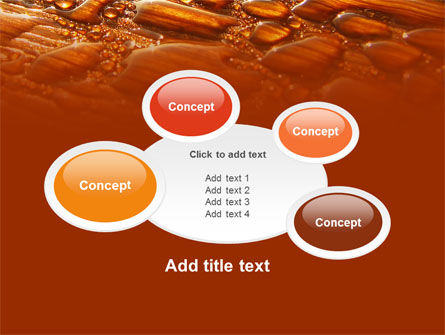 Free Water Drops On A Brown Background PowerPoint Template Slide 16
