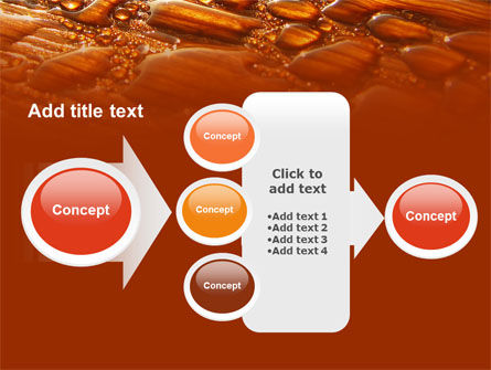 Free Water Drops On A Brown Background PowerPoint Template Slide 17