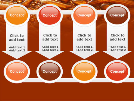 Water Drops On A Brown Background Free PowerPoint Template Slide 18