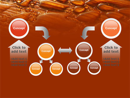 Water Drops On A Brown Background Free PowerPoint Template Slide 19