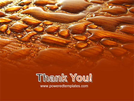 Free Water Drops On A Brown Background PowerPoint Template Slide 20