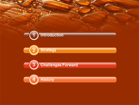 Free Water Drops On A Brown Background PowerPoint Template Slide 3