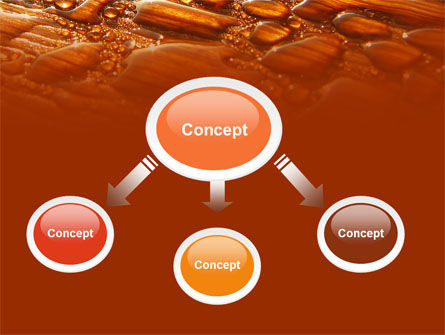 Free Water Drops On A Brown Background PowerPoint Template Slide 4