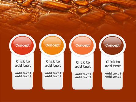 Free Water Drops On A Brown Background PowerPoint Template Slide 5