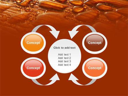 Free Water Drops On A Brown Background PowerPoint Template Slide 6