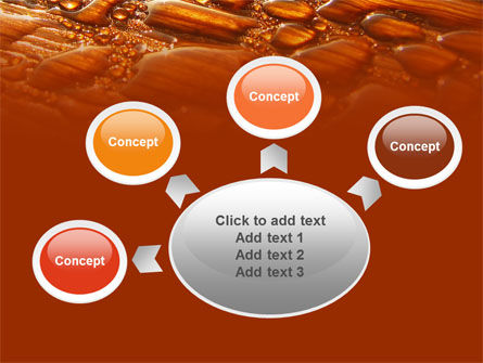 Free Water Drops On A Brown Background PowerPoint Template Slide 7