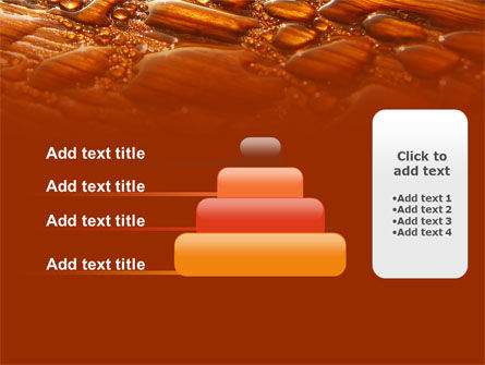 Free Water Drops On A Brown Background PowerPoint Template Slide 8