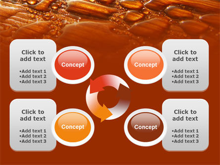 Free Water Drops On A Brown Background PowerPoint Template Slide 9