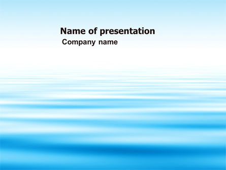 Nature & Environment: Blue Surface PowerPoint Template #05885