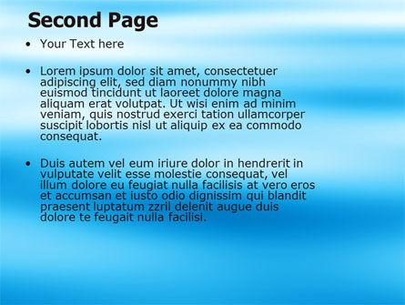 Blue Surface PowerPoint Template, Slide 2, 05885, Nature & Environment — PoweredTemplate.com