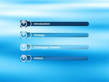 Blue Surface PowerPoint Template, Slide 3, 05885, Nature & Environment — PoweredTemplate.com