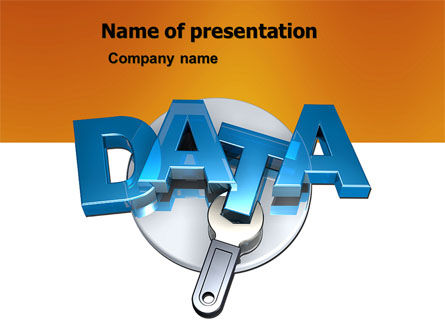 Data Safety PowerPoint Template, 05887, Technology and Science — PoweredTemplate.com