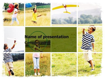 Outdoor Play PowerPoint Template, 05889, People — PoweredTemplate.com