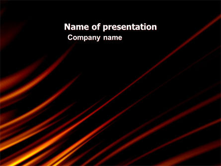 Fire Lines PowerPoint Template