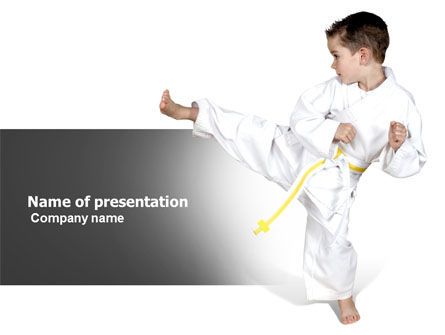Sports: Karate Kid PowerPoint Template #05892
