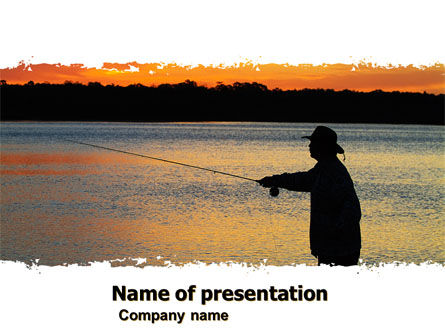 Fishing PowerPoint Template, 05893, Sports — PoweredTemplate.com