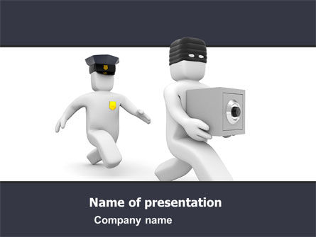 Theft PowerPoint Template, 05895, Legal — PoweredTemplate.com