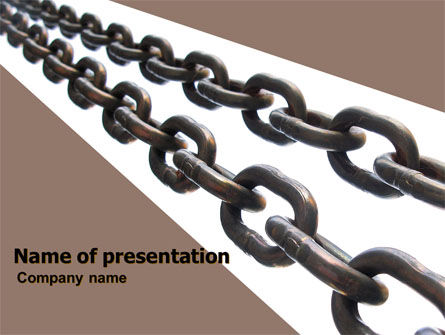 Business Concepts: Steel Chains PowerPoint Template #05896