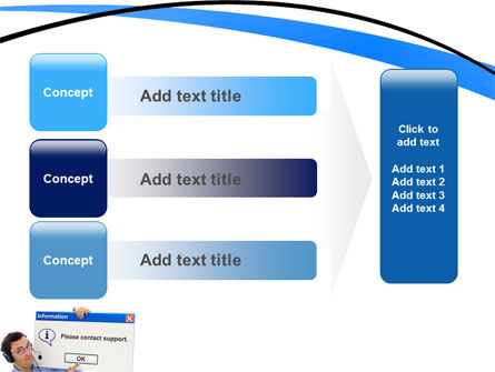 Online Support PowerPoint Template Slide 12
