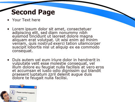 Online Support PowerPoint Template Slide 2