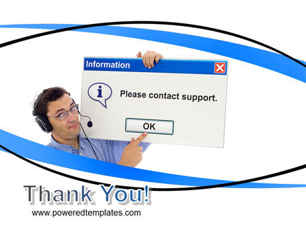 Online Support PowerPoint Template Slide 20
