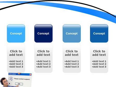 Online Support PowerPoint Template Slide 5
