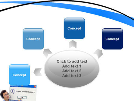 Online Support PowerPoint Template Slide 7