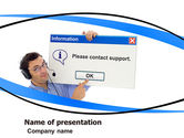 Careers/Industry: Online Support PowerPoint Template #05897