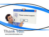 Online Support PowerPoint Template#20