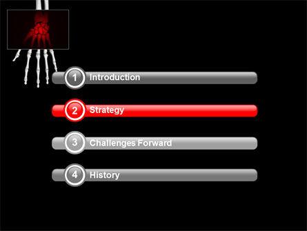 Skeleton Hand PowerPoint Template, Slide 3, 05899, Medical — PoweredTemplate.com