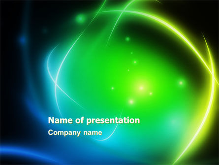 Abstract/Textures: Green Swirls PowerPoint Template #05900