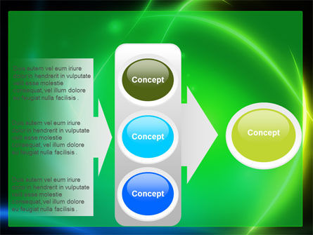 Green Swirls PowerPoint Template Slide 11