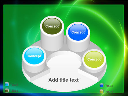 Green Swirls PowerPoint Template Slide 12