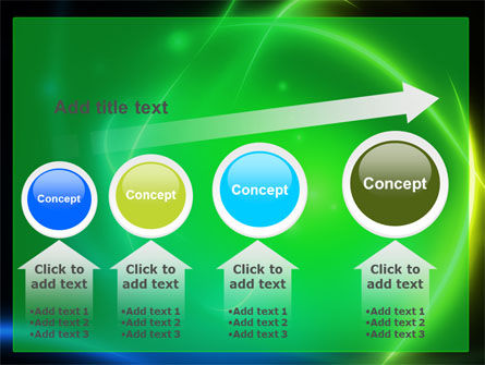 Green Swirls PowerPoint Template Slide 13
