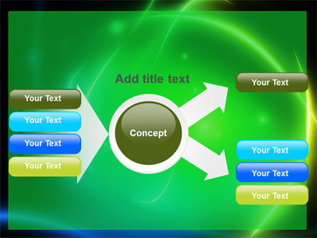 Green Swirls PowerPoint Template Slide 14